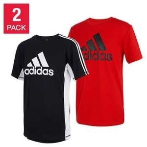 Adidas Youth 2-pack Tee, Black/Red